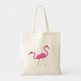 Sac Deux flamants roses se tenant ensemble