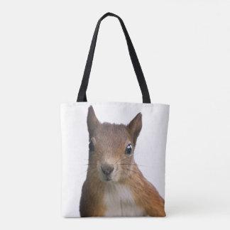 Sac d'impression de portrait d'écureuil partout
