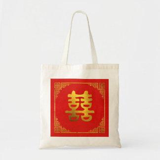 Sac Double symbole de Feng Shui de bonheur