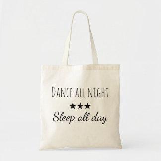 Sac Draagtas sacoche citation danse la nuit dort