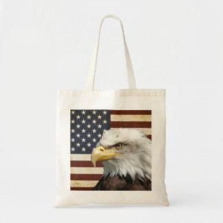 Sac Drapeau des USA Etats-Unis de cru avec l'Américain