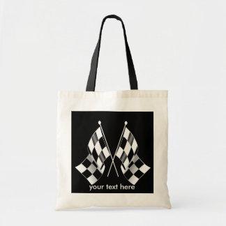 Sac Drapeaux de emballage Checkered noirs et blancs