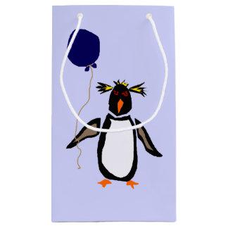 Sac drôle de cadeau d'anniversaire de pingouin de petit sac cadeau