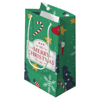 Sac écervelé de cadeau de beau Noël vert |