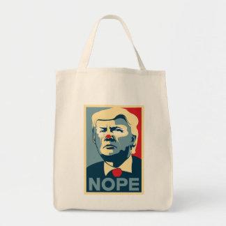 """Sac Épicerie fourre-tout de Donald Trump """"NOPE"""" !"""