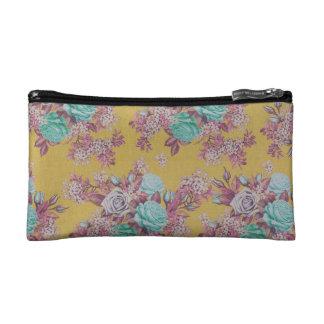 sac floral de cosmétique de motif de fleur trousses de toilette