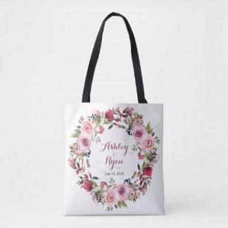 Sac floral de mariage de rose chic rose pourpre