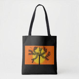 sac fourre-tout à arbre de coucher du soleil