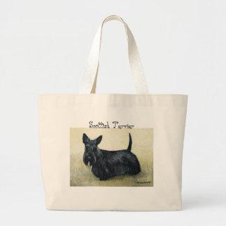 """Sac fourre-tout à art de chien """"de Terrier d'écoss"""