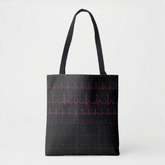 Sac fourre-tout à battement de coeur d'ECG