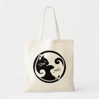 Sac fourre-tout à budget de chat de Yin Yang