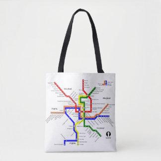Sac fourre-tout à carte de souterrain de métro de