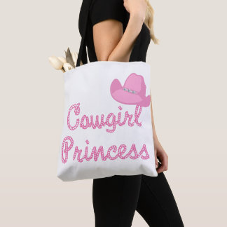 Sac fourre-tout à casquette de cowboy de princesse