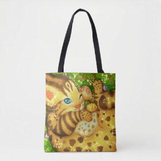 Sac fourre-tout à chat de léopard