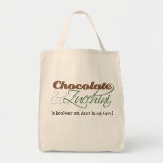 Sac fourre-tout à chocolat et à courgette