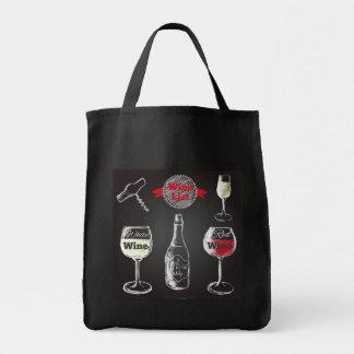 Sac fourre-tout à conception de tableau de vin