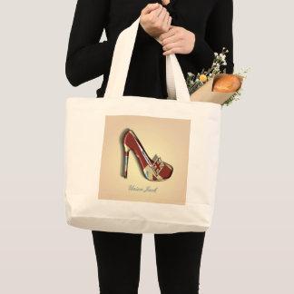Sac fourre-tout à conception de thème de chaussure