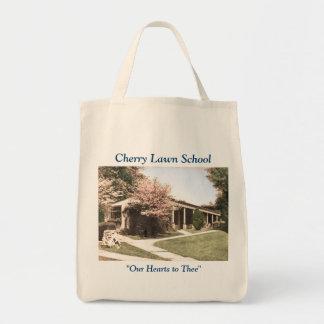 Sac fourre-tout à école de pelouse de cerise