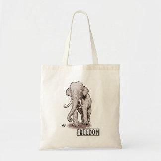 """Sac fourre-tout à éléphant de """"liberté"""""""