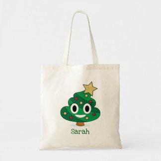 Sac fourre-tout à Emoji de dunette d'arbre de Noël