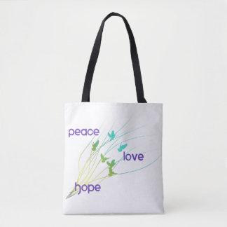 Sac fourre-tout à espoir d'amour de paix
