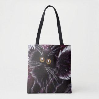 Sac fourre-tout à fée de chat noir