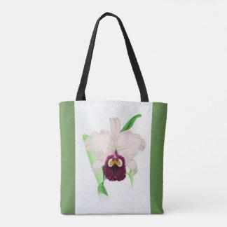Sac fourre-tout à fleur d'orchidée de Cattleya