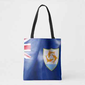 Sac fourre-tout à impression de drapeau d'Anguilla