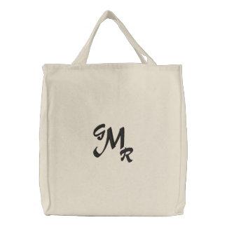 Sac fourre-tout à lettre du monogramme trois sacs brodés