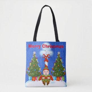 Sac fourre-tout à Noël de sommeil Elf