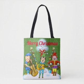 Sac fourre-tout à Noël d'elfes de musicien