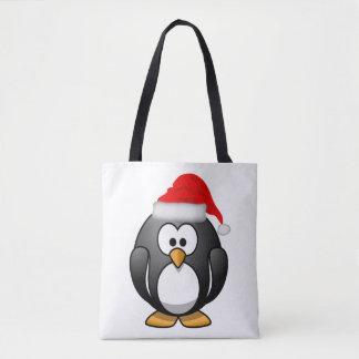 Sac fourre-tout à pingouin de Noël