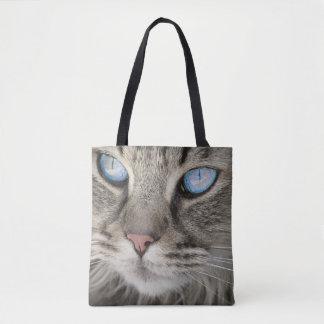 Sac fourre-tout à portrait de chat