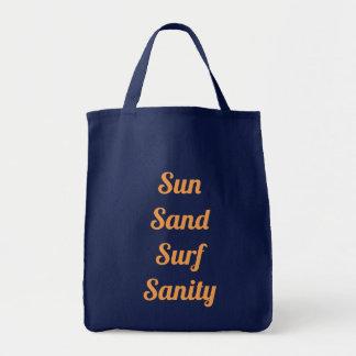 Sac fourre-tout à santé d'esprit de surf de sable