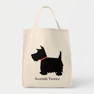 Sac fourre-tout à silhouette de noir de chien de T
