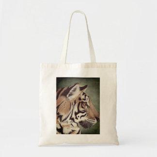 Sac fourre-tout à tigre d'aquarelle