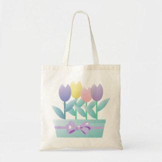 Sac fourre-tout à tulipes de ressort