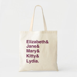 Sac fourre-tout à typographie de Jane Austen de