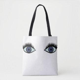 sac fourre-tout à yeux bleus