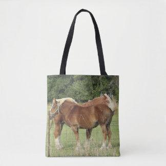 Sac fourre-tout ambre mignon à deux chevaux