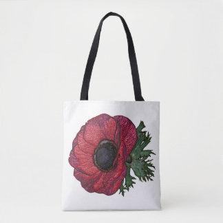 Sac fourre-tout anemone2 rouge