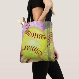 sac fourre-tout au base-ball des femmes avec le