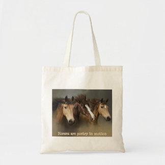 Sac fourre-tout aux chevaux sauvages trois