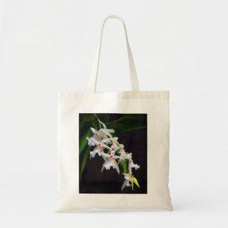 Sac fourre-tout blanc à toile d'orchidées