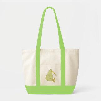 sac fourre-tout coloré par oiseau à kiwi