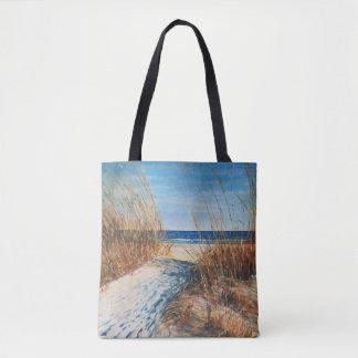 Sac fourre-tout côtier à l'art | de plage de dunes