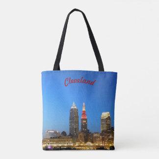 Sac fourre-tout de Cleveland de vin et d'or