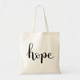 Sac fourre-tout en lettres à main d'espoir