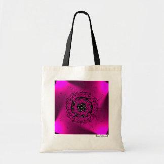 Sac fourre-tout en spirale léger rose à motif