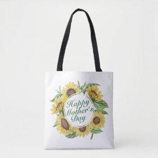 Sac fourre-tout floral heureux au jour de mère de